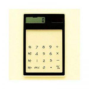 HONGYUANZHANG Calculatrice Portative De Carte Solaire Mini Calculatrice Électronique De 8 Chiffres Actionnée Transparente Avec La Calculatrice Scientifique De Gros Bouton (12.5 * 8.1 * 0.6Cm), Noir de la marque HONGYUANZHANG image 0 produit