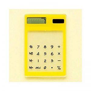 HONGYUANZHANG Calculatrice Portative De Carte Solaire Mini Calculatrice Électronique De 8 Chiffres Actionnée Par Transparence Avec La Calculatrice Scientifique De Gros Bouton (12.5 * 8.1 * 0.6Cm), Jaune de la marque HONGYUANZHANG image 0 produit