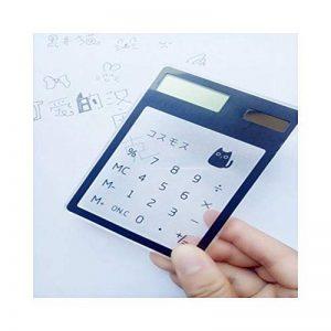 HONGYUANZHANG Calculatrice Scientifique Transparente De Poche Calculatrice De Poche Mignonne Calculatrices Solaires Pour La Réunion D'École (115X81X6Mm), Chat 1 de la marque HONGYUANZHANG image 0 produit