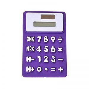 HONGYUANZHANG Mini Calculatrice Solaire Scientifique Pliable En Silicone Souple 8 Digital 11X7.3Cm Pour Bureau Scolaire, Violet de la marque HONGYUANZHANG image 0 produit