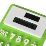 HONGYUANZHANG Mini Calculatrice Solaire Tenue Dans La Main De Silicone Mou Pliable 8 Digital 11X7.3Cm Pour Le Bureau D'École, Vert de la marque HONGYUANZHANG image 2 produit