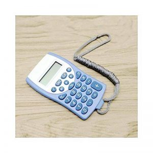 HONGYUANZHANG Portable Calculatrice Mini Pendaison Calculatrice Scientifique Calculatrice Multifonction Horloge (10Cm × 6Cm), Bleu de la marque HONGYUANZHANG image 0 produit