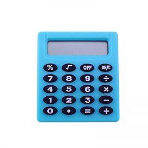HONGYUANZHANG Super Mini Candy Couleur Calculatrice Fonction Studentds Office Collection Calculatrice Nouveauté Homme Femme Cadeaux (4.4X5Cm), Bleu Cyan de la marque HONGYUANZHANG image 0 produit