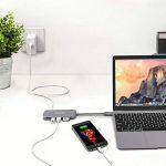HooToo USB C Hub Type-C Shuttle 3 Ports USB 3.0, Slot HDMI 4K Ultra HD Lecteur de Carte SD, Puissance de Charge, Compatible 2016 Mac/Mac Pro/Chromebox Pixel MFi Certifié – Gris Sidéral de la marque HooToo image 4 produit