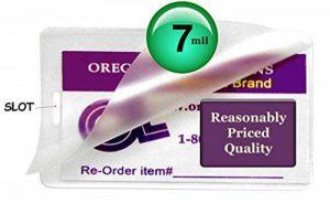 Hot 7MIL étiquette de bagage Pochettes de plastification avec fente [Pkg de 500] 2–1/2x 4–1/4clair de la marque Oregon Lamination Premium image 0 produit