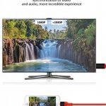 HOUKOLI Câble Lightning HDMI 2M Adaptateur Lightning vers HDMI 1080P Haute Vitesse Transmettre Audio Vidéo TV Projecteur, Compatible avec iPhone X/8/7/6/5 iPad iPod iTouch - Soutenir iOS 11 de la marque HOUKOLI image 2 produit