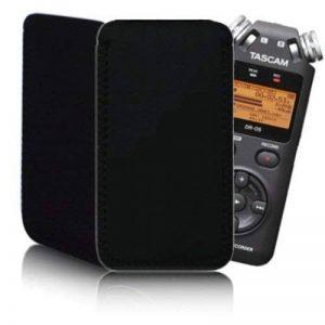 Housse en néoprène antichoc et résistante à l'eau pour enregistreur vocal numérique Tascam DR-05 DR-08 DR-07 Olympus LS-20 Noir de la marque BIZEBEE image 0 produit