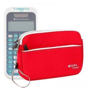 Housse en néoprène rouge pour Texas Instruments TI-College Plus Calculatrice scientifique + poignée et poche frontale DURAGADGET - Calculatrice non fournie de la marque Duragadget image 0 produit
