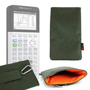 Housse rembourrée en vert kaki pour Texas Instruments TI-83 Premium, TI 82 Advanced, TI-NSPIRE CX et TEX-TI36XPRO calculatrices scientifiques - DURAGADGET - Calculatrice non fournie de la marque Duragadget image 0 produit