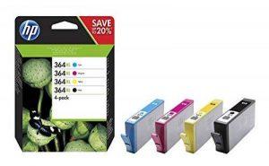 HP 364XL Pack de 4 Cartouches d'Encre Noire/Cyan/Magenta/Jaune Grande Capacité Authentiques (N9J74AE) de la marque HP image 0 produit