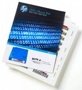 HP LTO-5 Ultrium RW Bar Code Label Pack 110 Étiquettes code à barres de la marque HP image 0 produit