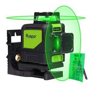 Huepar 902CG Niveau Laser Professionnel - Portée de 150 pieds - Horizontal et Verticale à 360 degrés, Laser ligne en croix Automatique - Avec base pivotante magnétique - 2 modes d'impulsion de la marque Huepar image 0 produit