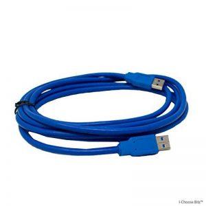 I-CHOOSE LIMITED 2M USB 3.0 Câble de Données Haute Vitesse/A Mâle à A Mâle/Connecteur A - Connecteur A/Bleu de la marque I-CHOOSE LIMITED image 0 produit