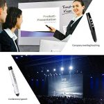 IDABAY Stylo Pointeur Laser Puissant Powerpoint Sans Fil Crayon Laser Professionnel Télécommande Dispositif De Présentation Multi Media Professeur Conférencier Portée 100M Noir de la marque IDABAY image 4 produit