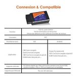 ieGeek OBD WiFi OBD2 Mini Adaptateur Sans-Fil Scanner Code de Défaut pour Véhicule Mini Outils - Connexion via WiFi sur Téléphone ( iPhone et Android) - 3000 Code Base de Données de la marque ieGeek image 3 produit
