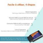 ieGeek OBD WiFi OBD2 Mini Adaptateur Sans-Fil Scanner Code de Défaut pour Véhicule Mini Outils - Connexion via WiFi sur Téléphone ( iPhone et Android) - 3000 Code Base de Données de la marque ieGeek image 2 produit