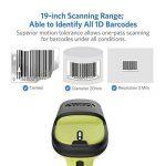 Inateck Scanner de Code-barres Laser sans fil 2.4GHz, Rayon de 35m, Scan Automatique et Précis, Autonomie d''environ 15 jours, BCST-60 de la marque Inateck image 2 produit