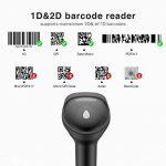Inateck Scanner de Codes-Barres 1D & 2D sans Fil pour POS, Jumelage Bluetooth/2,4Ghz et par Câble, Lecteur de Codes-Barres BCST-50 de la marque Inateck image 1 produit