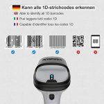 Inateck Scanner de Codes-barres Bluetooth Sans fil, Autonomie d'environ 15 jours, Portée 35 m, Scan Automatique Rapide et Précis, BCST-70 de la marque Inateck image 2 produit