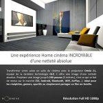 INÉDIT - HOEMENS, ENSEMBLE SALLE DE CINÉMA : VIDEOPROJECTEUR Full HD 1080P (3D, DLP, Android, Bluetooth, Airplay, Wifi, HDMI, Batterie) + HOME CINEMA 2.1 80 Watts & Bluetooth + CABLE HDMI + CABLE VGA… Une expérience Home cinéma inédite et incroyable de la image 4 produit