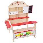 Infantastic - Marchande en bois pour enfants (avec comptoir, tiroirs et surfaces de rangement) - env. 95/117/70,5 cm de la marque Infantastic image 3 produit