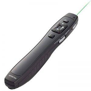 INFINITER LR-8G sans fil fonctions 4-en-1 avec dispositif de présentation à laser Vert / souris sans fil/ commande de lecteur média (alimentée par 2 piles AAA - INCLUSES ! ) de la marque Infiniter image 0 produit