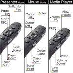 INFINITER LR-8G sans fil fonctions 4-en-1 avec dispositif de présentation à laser Vert / souris sans fil/ commande de lecteur média (alimentée par 2 piles AAA - INCLUSES ! ) de la marque Infiniter image 3 produit