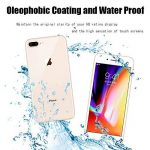 iPhone 8 Plus (Recto et verso) Protection écran Verre Trempé, MiSha 9H La Dureté Du Verre Trempé Anti-Rayure Haute Definition La Sensibilité élevée 2.5D Tour Edge revêtement oléophobique Anti-empreintes Anti-poussière Anti-huile Facile à installer Sans Bu image 3 produit