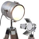 Jago - Lampadaire type projecteur de cinéma avec trépied en bois réglable en hauteur - abat-jour rotatif - classe énergétique : A++, A+, A, B, C, D, E - 3 COLORIS DE TRÉPIED AU CHOIX de la marque Jago image 1 produit