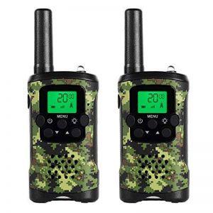 JAJA 1 Paire Mini Walkie Talkies PMR446 Scanner Radio Bidirectionnelle Voie 22 Voix Moniteur, Fonction Rétro-Éclairage de la marque JAJA image 0 produit