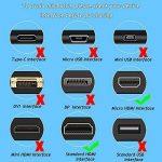 JASDOIT 2m Câble Micro HDMI vers HDMI, soutien Ethernet, 3D, 4K, et Audio Return, Noir,pour GoPro HERO6 Black/ HERO5 Black, Asus T100/ Zenbook UX330UA, Lenovo Yoga, Plaqué Or de la marque FYELC image 4 produit