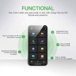 JDiag FasLink M2 OBD2 Lecteur de Code Professionnel Auto Diagnostic Scanner Voiture OBDII Scanner Outil Bluetooth 4.0 iPhone Android Téléphone - Noir de la marque JDiag image 2 produit