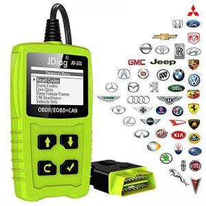 JDiag OBD diagnostic auto Code lecteur OBD2 scanner avec la fonction de test de la batterie de la marque JDiag image 0 produit