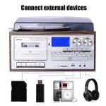 JORLAI Lecteur Tourne-disque retro avec Bluetooth et Haut-parleurs Stéréo Intégrés Affichage avec un Grand LCD Enregistreur &Support USB / SD Encodage MP3 / Cassette & Lecteur CD, Radio AM / FM, AUX IN, Sortie RCA de la marque JORLAI image 4 produit