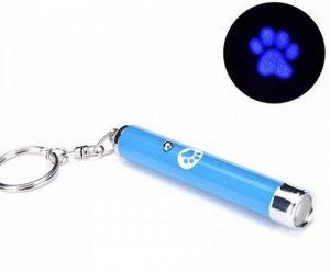 Jouet pour chat ou chatton, pointeur LED motif patte bleue (Livraison gratuite en France) Phone Tattoo© de la marque Phone Tattoo image 0 produit