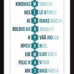 Joyeux Noël dans toutes les langues - Typographie Imprimer de la marque The Word Association image 1 produit