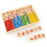 Juleya 52 Spindles cartes de nombre en bois et des barres de comptage avec la boîte, matériel Montessori Sticks Mathématiques jouets éducatifs matériel pour Kid de la marque Juleya image 2 produit