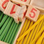 Juleya 52 Spindles cartes de nombre en bois et des barres de comptage avec la boîte, matériel Montessori Sticks Mathématiques jouets éducatifs matériel pour Kid de la marque Juleya image 3 produit