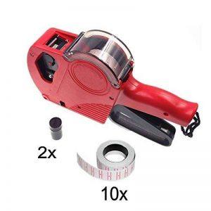 JZK Prix rapide étiquettes pistolet tarification machine kit avec 10 rouleaux étiquettes de prix autocollant (5000 pcs) et 2 prix pistolet encre de la marque JZK image 0 produit