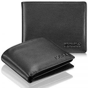 """KAVAJ portefeuille """"Oslo"""" en véritable cuir de vachette, porte-monnaie noir et marron-cognac classique avec RFID-Blocker, poche à monnaie, rangement pour pièces, carte de crédit, billets de la marque KAVAJ image 0 produit"""
