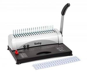 Kenley Machine à Relier Relieuse Perforelieuse Manuelle - jusqu'à 450 feuilles - 10 Anneaux Plastique Inclus de la marque Kenley image 0 produit