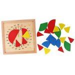 KESOTO Tableau De Division De Fraction De Mathématiques Circulaires Matériel Didactique Mathématique Montessori de la marque KESOTO image 4 produit
