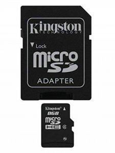 Kingston - SDC4/8GB - Carte Micro SDHC 8 Go (Classe 4) - Adaptateur SD de la marque Kingston Technology image 0 produit