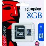 Kingston - SDC4/8GB - Carte Micro SDHC 8 Go (Classe 4) - Adaptateur SD de la marque Kingston Technology image 1 produit
