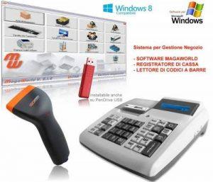 Kit caisse enregistreuse, lecteur de codes-barres, logiciel MagaWorld, pour magasin, inventaire, écran tactile de la marque BARCODE DIRECT image 0 produit