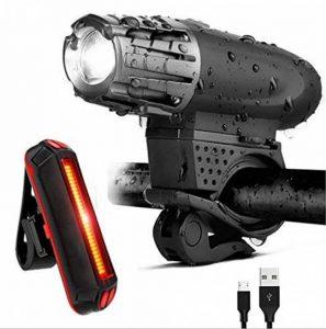 Kit rechargeable imperméable à l'eau de vélo de LED d'USB, feu arrière de LED LIBRE INCLUS - s'adapte à TOUS les vélos, installation facile de la marque DLM image 0 produit