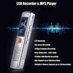 KKmoon 8GB Mini Dictaphone Numérique Portable Enregistreur vocal audio Ultra-Mince MP3 Lecteur Support A-B Répétition Argent de la marque KKmoon image 1 produit