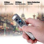 KKmoon 8GB Mini Dictaphone Numérique Portable Enregistreur vocal audio Ultra-Mince MP3 Lecteur Support A-B Répétition Argent de la marque KKmoon image 2 produit