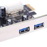 KKmoon Très Rapide Carte d'extension PCI-E PCI Express PCI-E 2 Ports USB 3.0 19 Broches USB3. 0 4 Broches Port IDE Profile Bas de la marque KKmoon image 3 produit
