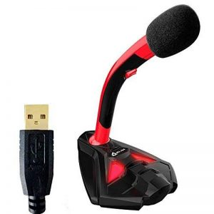 Klim k20 Voice Microphone à Pied USB pour Ordinateur - Micro de Bureau - Microphone de Gamer PC PS4 (Rouge) de la marque KLIM image 0 produit
